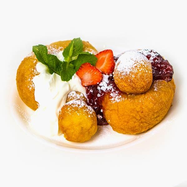 Papanasi cu dulceata de fructe de padure delivery livrare food comanda order Bucuresti