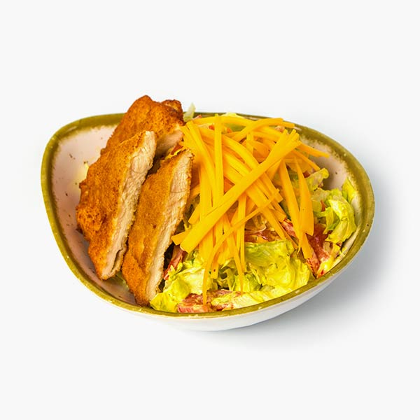 Salata cu pui in crusta panko si sos Ranch delivery livrare food comanda order Bucuresti