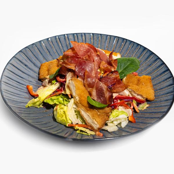 Salata cu pui in crusta panko si bacon crocant Bucuresti comanda delivery livrare mancare